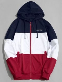 Color Block Zip Up Hoodie Men Clothes Sweat Shirt, Looks Jeans, Sweater Coats, Sweaters, Vogue, Mens Sweatshirts, Men's Hoodies, Sweater Fashion, Zip Hoodie