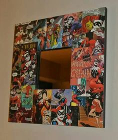 Comic book mirror frame