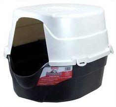 hagen catit hooded cat litter box. Advanced Hooded Cat Oval Litter Box Lid Odor Control Kitty Pet Plastic Absorb Hagen Catit R