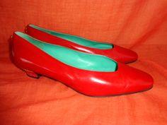 Vintage Pumps - Schuhe*Vintage*Pumps*rot*Leder*40.5* - ein Designerstück von SweetSweetVintage bei DaWanda