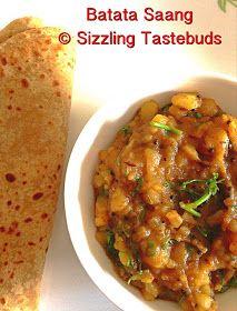Spicy Potato based Side dish for Poori- Chapati Goan Recipes, Indian Food Recipes, Vegetarian Recipes, Cooking Recipes, Ethnic Recipes, Potato Side Dishes, Healthy Side Dishes, Side Dish Recipes, Konkani Recipes