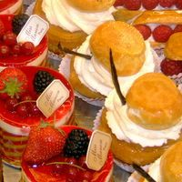 Delicacies from a Patisserie in Paris.