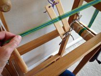 Quiet Friday: Band Loom Warping and Weaving – Warped for Good Inkle Weaving, Inkle Loom, Card Weaving, Tablet Weaving, Rope Maker, Masking Tape, Something To Do, Fiber, Tableware