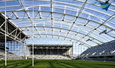 ETFE foil roof systems replace glass and cost much less. Tensile Structure Systems
