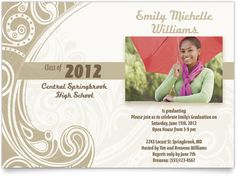 Linen Graduation Announcements - Pattern for Success