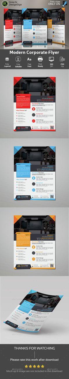 Modern Corporate Flyer Template PSD. Download here: http://graphicriver.net/item/modern-corporate-flyer/15336252?ref=ksioks