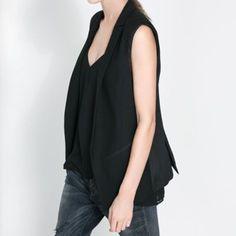 HP 11/22/15- ZARA Sleeveless Blazer Preowned, in excellent condition! Size XS. Zara Jackets & Coats Blazers