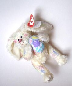 Ty Georgia the Easter Rabbit With Egg Attic by annimae182 on Etsy, $8.00