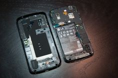 Under LG Nexus 4 back cover