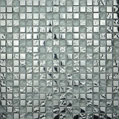 With these elegant silver-effect glass mosaics, add a touch of luxury. Made from glass, these tiles are thick by 30 x 30 cm and mounted on a fabric net back Tactile Texture, Tiles Texture, Glass Mosaic Tiles, Wall Tiles, Adhesive Tiles, Color Of The Year, Pantone Color, Porcelain Tile, Cheap Internet