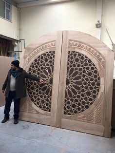 Dwell Of Decor: 28 Wonderful Front Door Designs, That Will Leave House Speechless With Neighbors Door Gate Design, Main Door Design, Wooden Door Design, Front Door Design, Wooden Doors, Cool Doors, Unique Doors, The Doors, Front Doors