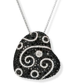 I want this black diamond heart pendant.  Does my love of jewelry know no bounds?