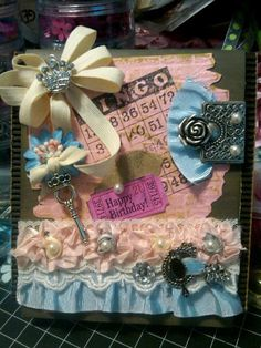 melanie siganos - card i made for my aunt's 72nd birthday