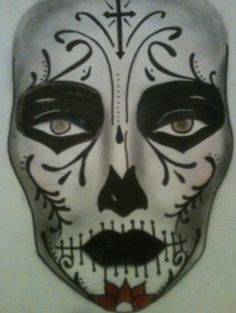#makeup #facechart #halloween #artist #beauty #mac #cosmetics day of the dead