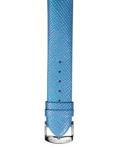 Philip Stein 18mm Iridescent Grained Calfskin Watch Strap, Blue