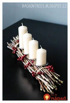 Simple And Popular Christmas Decorations Table Decorations Christmas Candles DIY Christmas Centerpiece Christmas Crafts Christmas Decor DIY Noel Christmas, Christmas Candles, Christmas Balls, Rustic Christmas, Simple Christmas, Winter Christmas, Christmas Wreaths, Advent Wreaths, Nordic Christmas