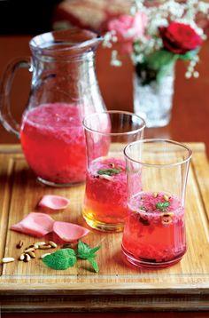 Traditional Gül serbeti (Turkish rose drink)..., ,