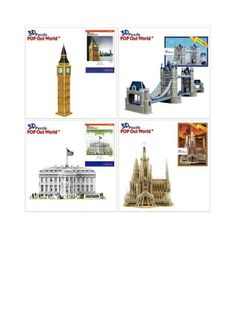 Turn off your phone and Internet - and make a puzzle!  Fun 3D puzzle timee!! Come and find your favorite building!