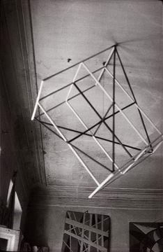 Alexander Rodchenko Popova's Studio 1924 geometric structure suspended from a ceiling