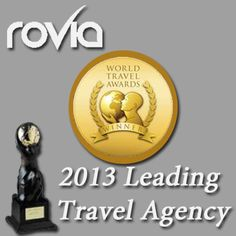 Rovia awarded 2013 Leading Travel Agency! A special thanks to all Rovian! #TravelAwards #vacation #TravelDeals