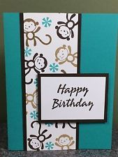 Stampin Up handmade cards Happy Birthday Monkeys