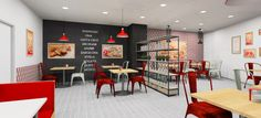 Diseño de nueva imagen Telepizza Internacional, local Standalone 2