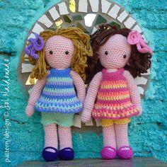 Crochet Doll Pattern Amigurumi Girls Sara & Kate best by bySol, $6.00