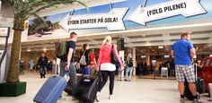 The Mediterranean starts at Sola This year, Stavanger Airport Sola is welcoming all its passengers to the Mediterranean even before they depart. Stavanger, Campaign, Gym, Excercise, Gymnastics Room, Gym Room
