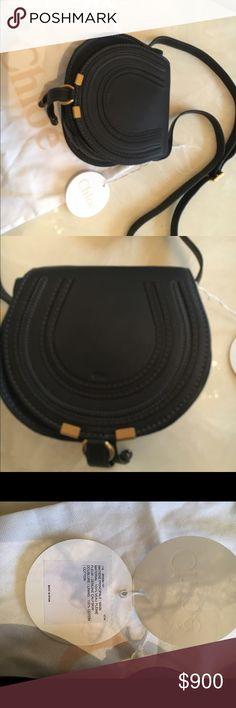 """NWT Chloe mini """"Marcie"""" bag Beautiful soft black leather Chloe mini Marcie bag never used Chloe Bags Mini Bags"""