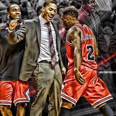 derrick rose all excited about nate robinson