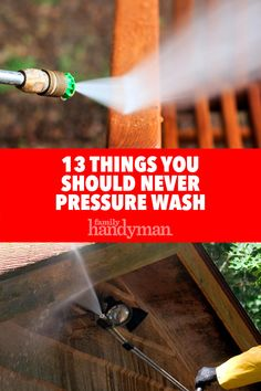 It's easy to get carried away when you first get your pressure washer. You're going to want to power wash anything and everything you see in and around your home but try to hold back on these 13 things. Pressure Washing House, Pressure Washing Business, Power Washing House, Best Pressure Washer, Pressure Washers, Home Maintenance Checklist, Air Conditioning Units, Hard Water Stains, Clean House