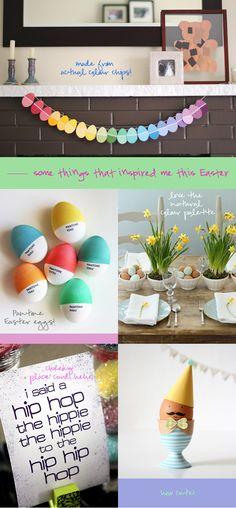 Pantone Easter Egg Colors. Cute!