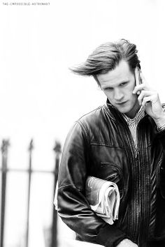 Matt Smith. I love his hair in this shot! >>>> and all of his hair is gone, gone.