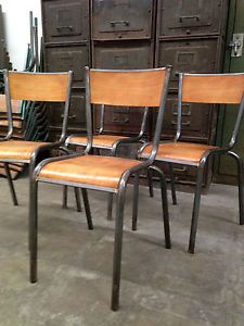 French Industrial Factory Chairs