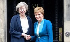 May is to meet Scotland's first minister for the first time since Sturgeon demanded a second Scottish referendum.