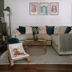 Baby Up, Couch, Living Room, Rugs, Furniture, Instagram, Home Decor, Farmhouse Rugs, Settee