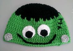 This beanie is 16 inches round. It fits an month baby to a small toddler. Can be customized to fit. Hand wash in cold water. Lay flat to dry. As always made with love in every stitch! Available for purchase at: needlesandstitche. Halloween Hats, Halloween Crochet, Baby Beanies, Beanie Hats, Crochet Ideas, Crochet Patterns, Crochet Hats, Head And Neck, Baby Month By Month
