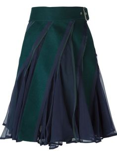 paneled flared skirt