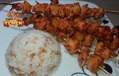 Fırında Tavuk Şiş Tarifi – Çöp Şiş Tarifi Pollo Tandoori, Tandoori Chicken, Pie Recipes, Baking Recipes, Chicken Skewers, Baked Chicken Recipes, Kakao, Iftar, Easy