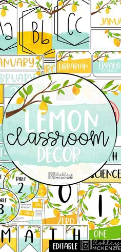Brighten up your classroom with this fun lemon classroom decor bundle! It will save you hours of time and will make you excited to enter your beautiful classroom every day. If cool blue colors and watercolor lemons are your jam, click to see all that's included!