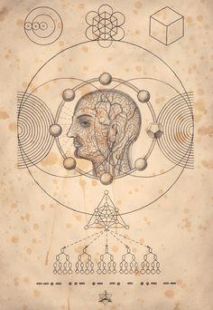 The Art of Daniel Martin Diaz / Quantum Man / the fractal nature of humity / Sacred Geometry <3