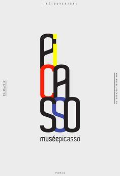 Affiche et Identité   Musée Picasso.  Victoire Coyon