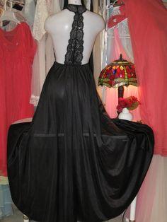 Vintage Nightgown Glamorous Long Full Sweep by SweetCherryBoudoir, $124.99