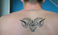Aries Zodiac Sign Tattoos