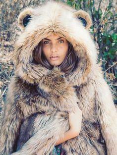 Grizzly Faux Fur Coat by Spirit Hoods