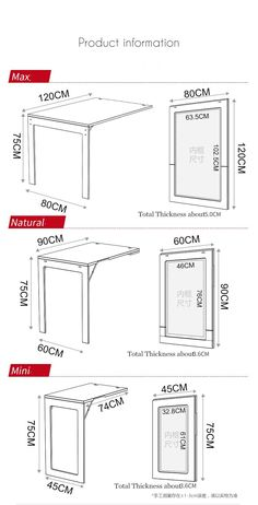 Shelf to office desk amazing home office ideas - New ideas Folding Furniture, Folding Table Desk, Folding Walls, Smart Furniture, Space Saving Furniture, Home Furniture, Furniture Design, Furniture Ideas, Wall Mounted Dining Table