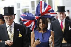 Royal Ascot race hats ( Sang Tan / Associated Press / June 19, 2012 ) This attendee chose a rather patriotic hat for the occasion.