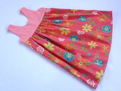 Peach Flower Grace Dress Size 3 by LittleFaeHandmade on Etsy