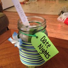 Challenge Day 1 Completed - Date nights in a jar for Ethan and I... We are so indecisive so this will be amazing for us!