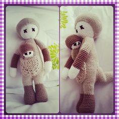 KIRA the kangaroo made by Sirivan D. / crochet pattern by lalylala
